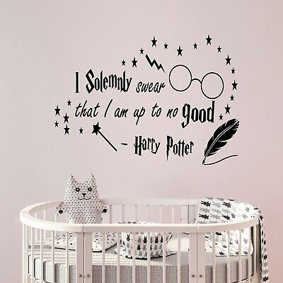 Harry Potter I Solemnly Swear quote Wall Sticker nursery bedroom art Decal v046