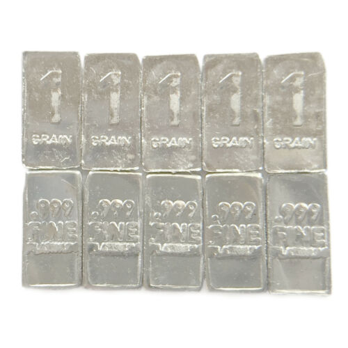 TEN 1 Troy Grain PLATINUM Bullion Micro Bars Pure.999 Fine Fast Free USA Ship