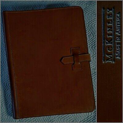 Mckinley American English Bridle Leather Pad Folder Portfolio Document Organizer