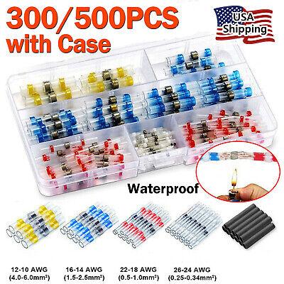 300500pcs Solder Seal Heat Shrink Waterproof Wire Connector Sleeve Splice Kit