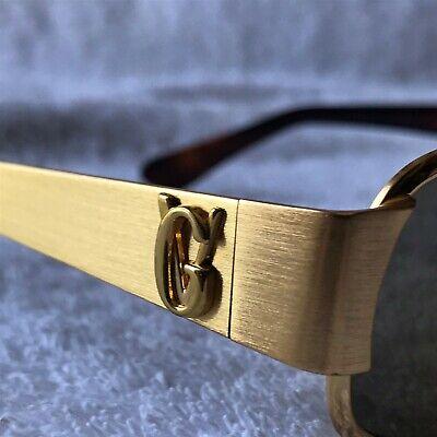 1990s Gianni Versace GV Gold Tone S77 Vintage Sunglasses