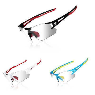 ROCKBROS Fahrradbrille Rahmenlose Sport Brille Photochromic Sonnenbrille UV400