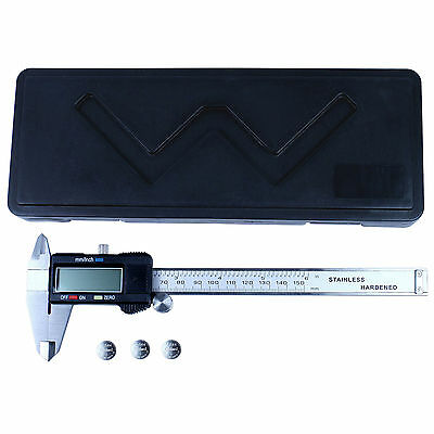 "6"" Digital Caliper  Stainless Steel Electronic Vernier Gauge Micrometer 0.01mm"