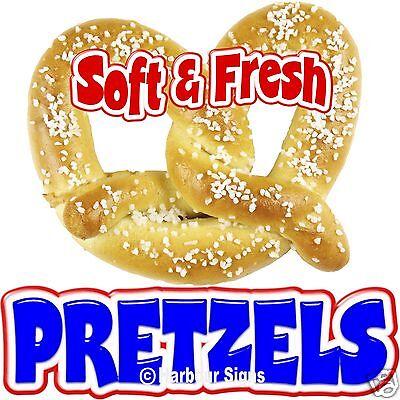 Pretzels Soft Fresh Food Truck Concession Stand Restaurant Vinyl Sign Decal 14