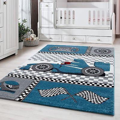 zimmer Babyzimmer Rennwagen Design Blau Grau Weiß Oeko Tex (Rennwagen-design)