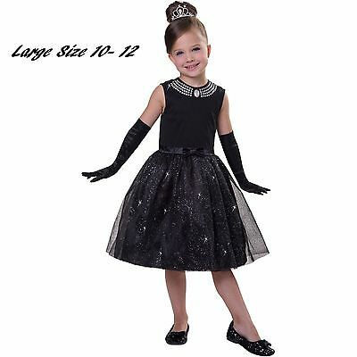 Movie Star Child Princess Child Halloween Costume Large 10 -12 - Kids Movie Star Costumes