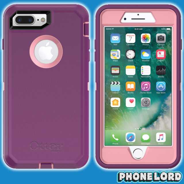 Genuine OtterBox Defender case cover iPhone 7 PLUS Rugged Vinyasa Purple Pink