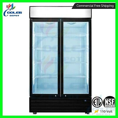 Refrigerator Glass Door Merchandiser Commercial Upright - Display Cooler Drink