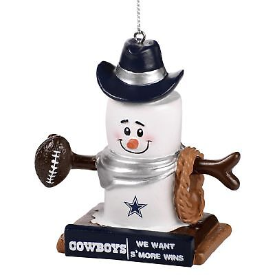 DALLAS COWBOYS Smores Christmas Tree Ornament We Want Smore Wins Thematic (Dallas Cowboy Ornaments)