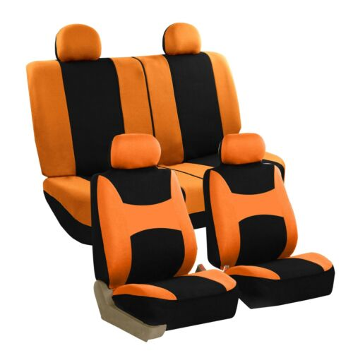Car Seat Covers Auto Sedan SUV Truck Van Full Set 4 Headrests Orange