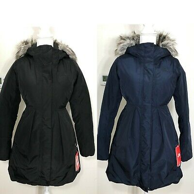 The North Face Women's Transarctic Mama Parka Down Coat Black Urban Navy XS L