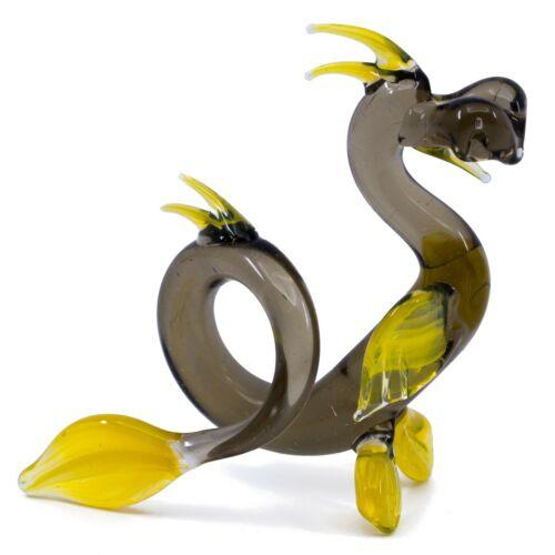 "Lampwork Hand Blown Glass Chinese Dragon Sea Serpent Figurine 3.25"" High New!"