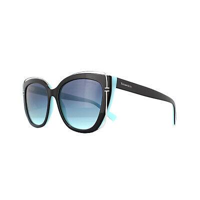 Tiffany Sonnenbrille Tf 4148 805595 Schwarz Azur Farbverlauf Blau