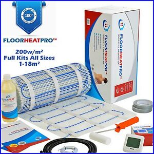 bathroom wetroom electric underfloor undertile heating kit 200w all