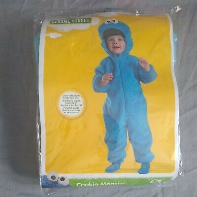 Cookie Monster Costume Toddler Baby Sesame Street Halloween Size S (2T)