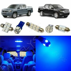 17x Blue Led Lights Interior Package Kit For 2006 2013 Honda Ridgeline Hr1b
