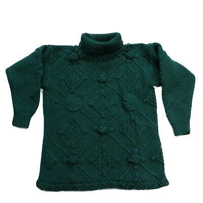 80s Sweatshirts, Sweaters, Vests | Women Black Plum Size 8 10 Vintage Wool Jumper Floral Forest Green Turtleneck Boxy $29.62 AT vintagedancer.com