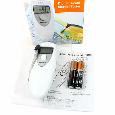 Portable Alcohol Breathalyzer Breath Tester Analyzer LCD Display Batteries Incl