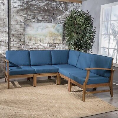 Uniese Indoor Farmhouse 5 Piece Sectional Sofa Chat Set ()