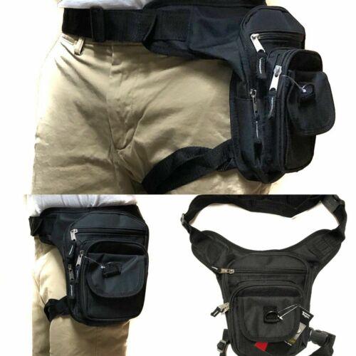 Waist Drop Leg Thigh Bag Outdoor Hip Belt Fanny Utility Pack Pouch Black