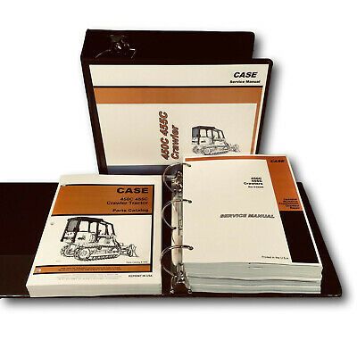 Case 450c 455c Crawler Dozer Loader Service Manual Parts Catalog Overhaul Repair