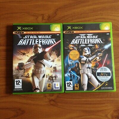 xbox Original STAR WARS BATTLEFRONT 1 And 2 Both Games