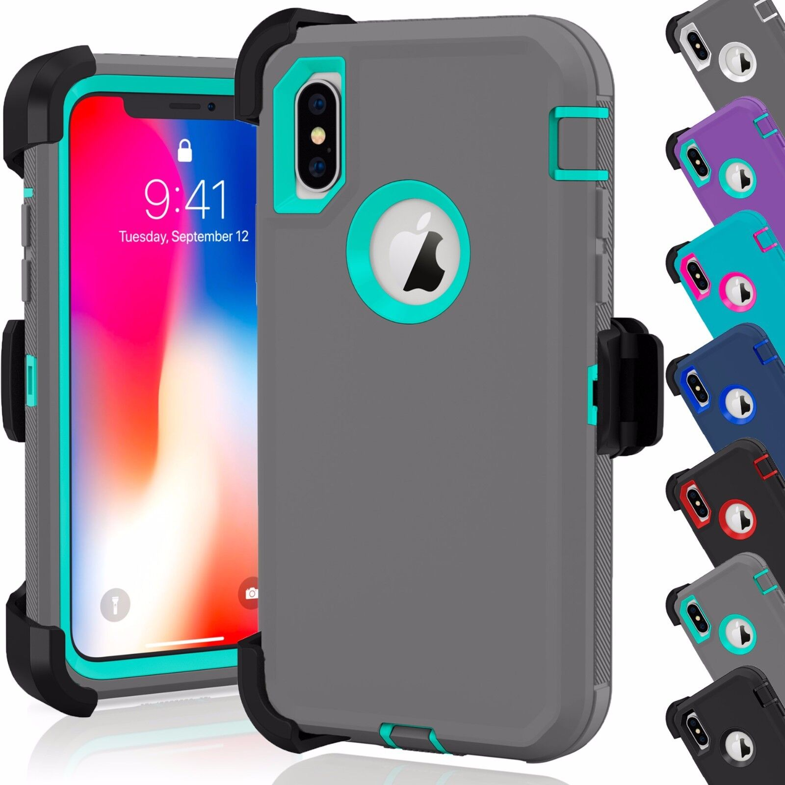 shockproof hard case cover for apple iphone x xs xr max 10. Black Bedroom Furniture Sets. Home Design Ideas