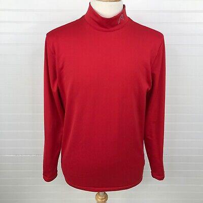 HEAD Mens Mock Neck Dri-Fit Shirt Size Large Stretch Long Sleeve Red Dri Fit Mock Neck Shirt