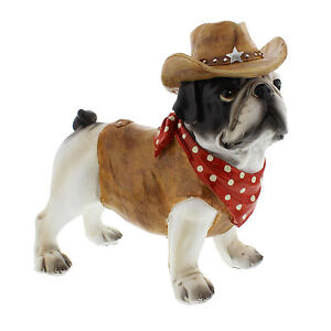 Dog Ornament Statue Figurine Cowboy Character Juliana Country Living 69083 23cm