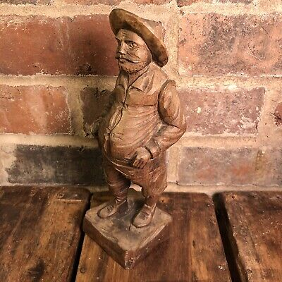 VINTAGE Spanish Hand-Carved Wooden Figure of Sancho Panza (Don Quixote story)