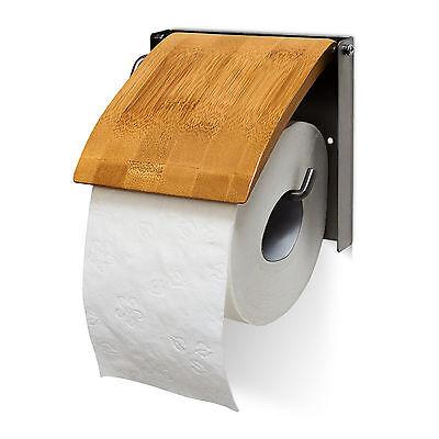 Toilettenpapierhalter Bambus Klopapierhalter Klorollenhalter WC Rollenhalter