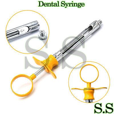 Dental Aspirating Syringe Yellow Color Handle 1.8cc-anesthetic Dental Instrument