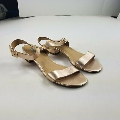 Steve Madden Womens Cache Rose Gold Sandals Size 9 (Steve Madden Gold)