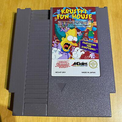 Nintendo NES Game - The Simpsons Krusty's Fun House