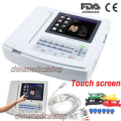 Usa Digital 12-lead Ecgekg Machine 12-channel Electrocardiograph Touch Screen