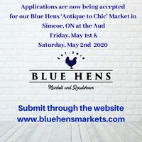 """Vendors Wanted - Blue Hens """"Antique to Chic"""" Market"""