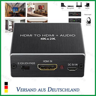 HDMI Audio SPDIF 4K 2K Extractor Splitter DTS 5.1CH 3.5mm Output 1.4 Version DE ()