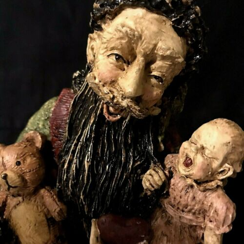 Elf Troll Gremlin Imp Figurine Creepy Christmas Crying Baby 9 inch Resin Statue