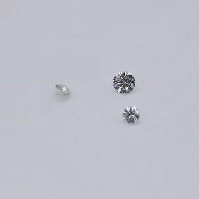 22 Pcs CVD//HPHT Loose Diamonds 1.70 mm to 1.80 mm TCW 0.50,G-H,VS-SI,Lab Grown