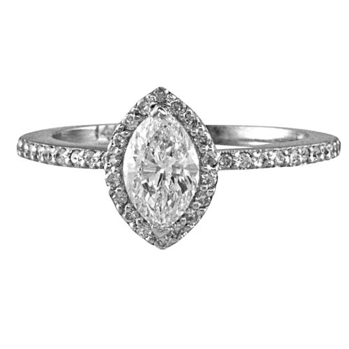 Best seller Halo Style GIA Certified Marquise Diamond Engagement Ring 3.10 CTW