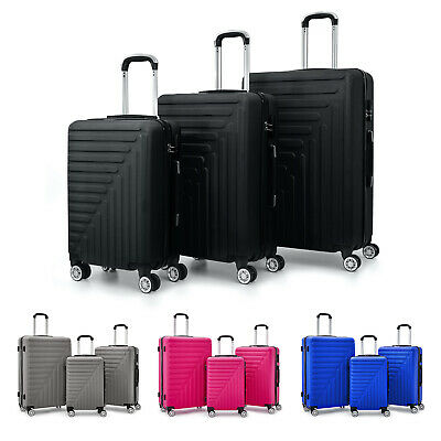 Lightweight 4 Wheel Luggage Suitcase Travel Cabin Bag Hard Case 20'' 24'' 28''