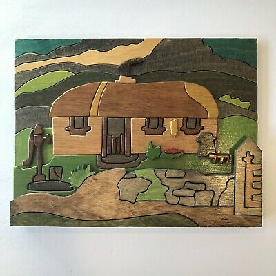 Puckane Crafts Ireland Wood House Rural Scene