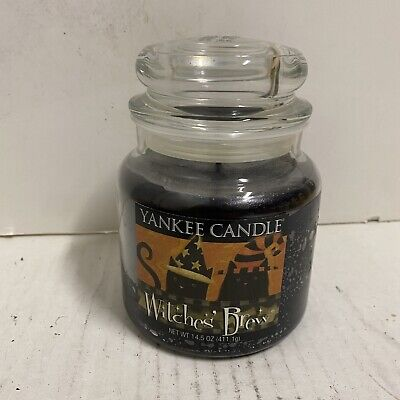 WITCHES BREW YANKEE CANDLE JAR 14.5 Oz DISCONTINUED SCENT Halloween