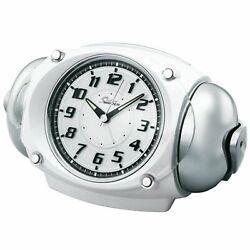 SEIKO CLOCK RAIDEN loud alarm clock Quartz White NR438W New F/S Japan w/tracking