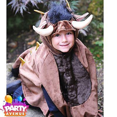 Childrens Halloween 4-8 yrs Monster Cape Costume Travis Dress Up Fancy - Gruffalo Halloween Costume