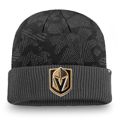Vegas Golden Knights Fanatics Branded Iconic Cuffed Knit Hat - Black/Gray - $24.99