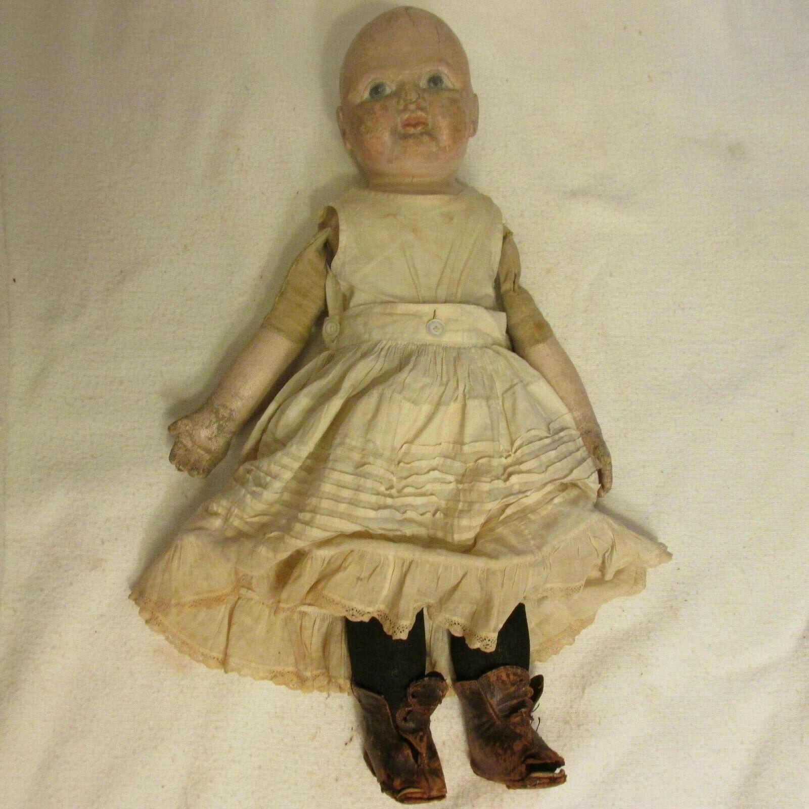 Antique Doll Philadelphia Baby JB Sheppard Co Rag Stockinette Clothes Shoes - $899.99