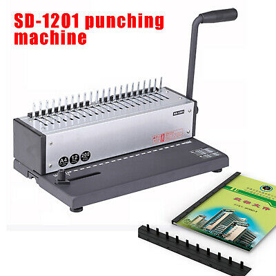 Sd-1201 Coil Binder Plastic Comb Binding Machine. Manual Punch 12 Sheets 80g A4