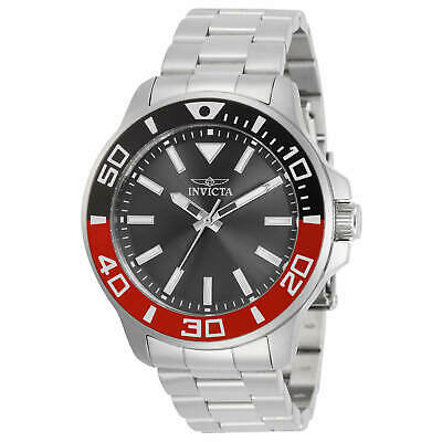 Invicta Men's Watch Pro Diver Charcoal Dial Stainless Steel Bracelet 30743