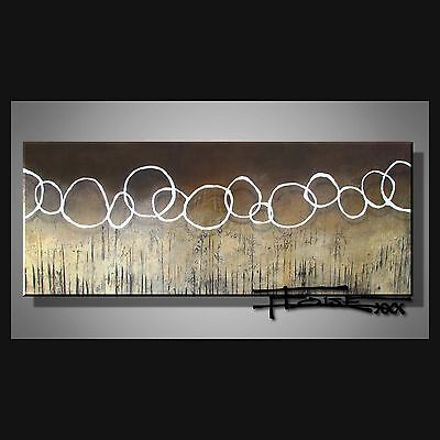 ABSTRACT PAINTING CANVAS WALL ART 60in. Large Signed US ELOISExxx